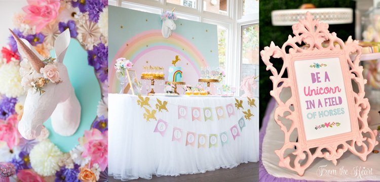 Unicorn Party Decor Bazinga Parties