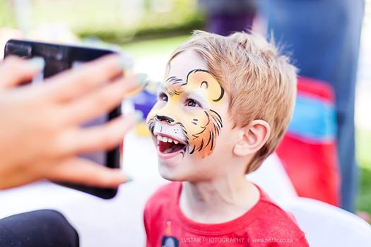 Lion Face Paint Bazinga Parties