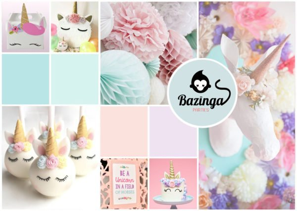Unicorn Pastel Cover Bazinga Parties