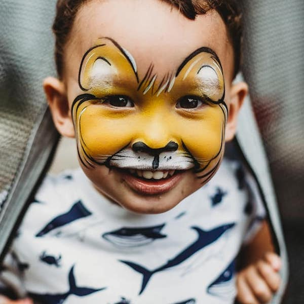 Lion Face Painting by Bazinga Cape Town